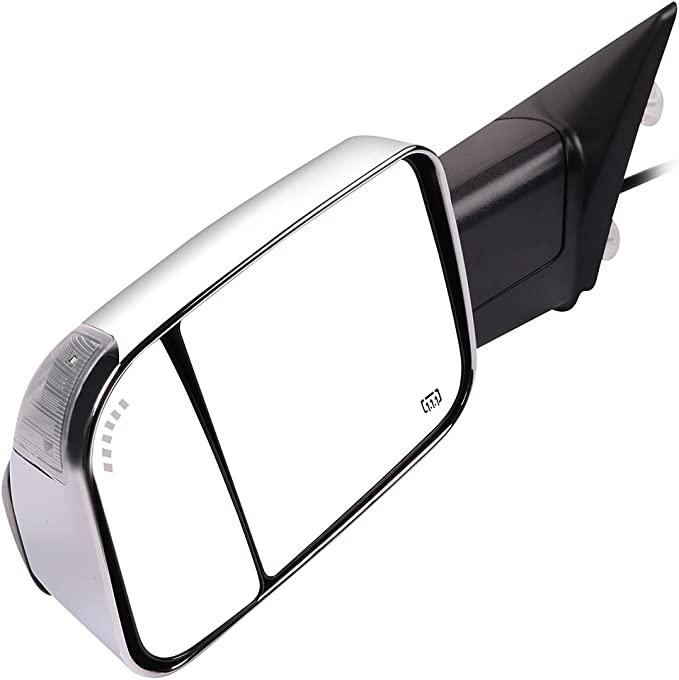 Towing Mirrors for 2009-2010 Dodge Ram 1500 2010 Dodge Ram 2500 2010 Dodge Ram 3500 2011-2017 Ram 1500 2011-2017 Ram 2500 2011-2017 Ram 3500 with Power Heated Puddle Light 116343-5209-1453438251 OCPTY Rearview Mirrors