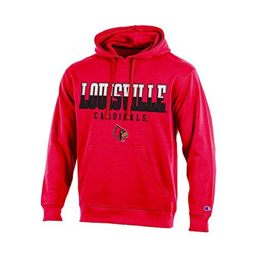 NCAA Louisville Cardinals Adult Men Pullover Hooded Fleece, Medium, Red ()