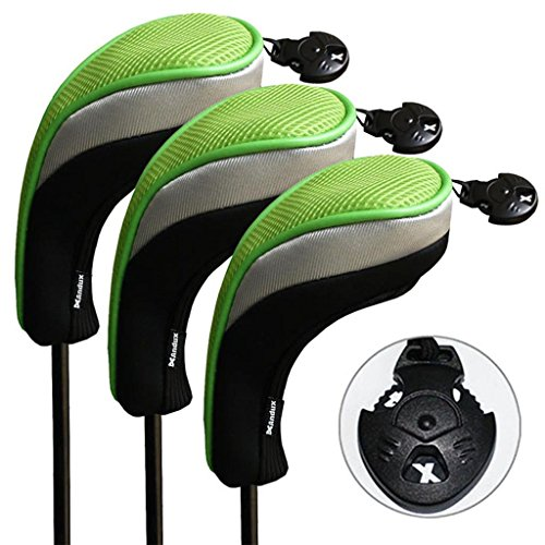 Andux 3 Pack Golf Hybrid Club Head Covers Interchangeable No. Tag MT/hy05 (Hybrid 4 Iron)