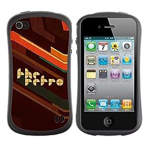 LASTONE PHONE CASE / Suave Silicona Caso Carcasa de Caucho Funda para Apple Iphone 4 / 4S / Retro Style Artwork Poster Brown Quote Slogan