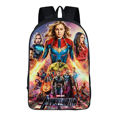 Avengers 4 Endgame Quantum Realm Backpack Kids Schoolbag Travel Rucksack Bag (13)