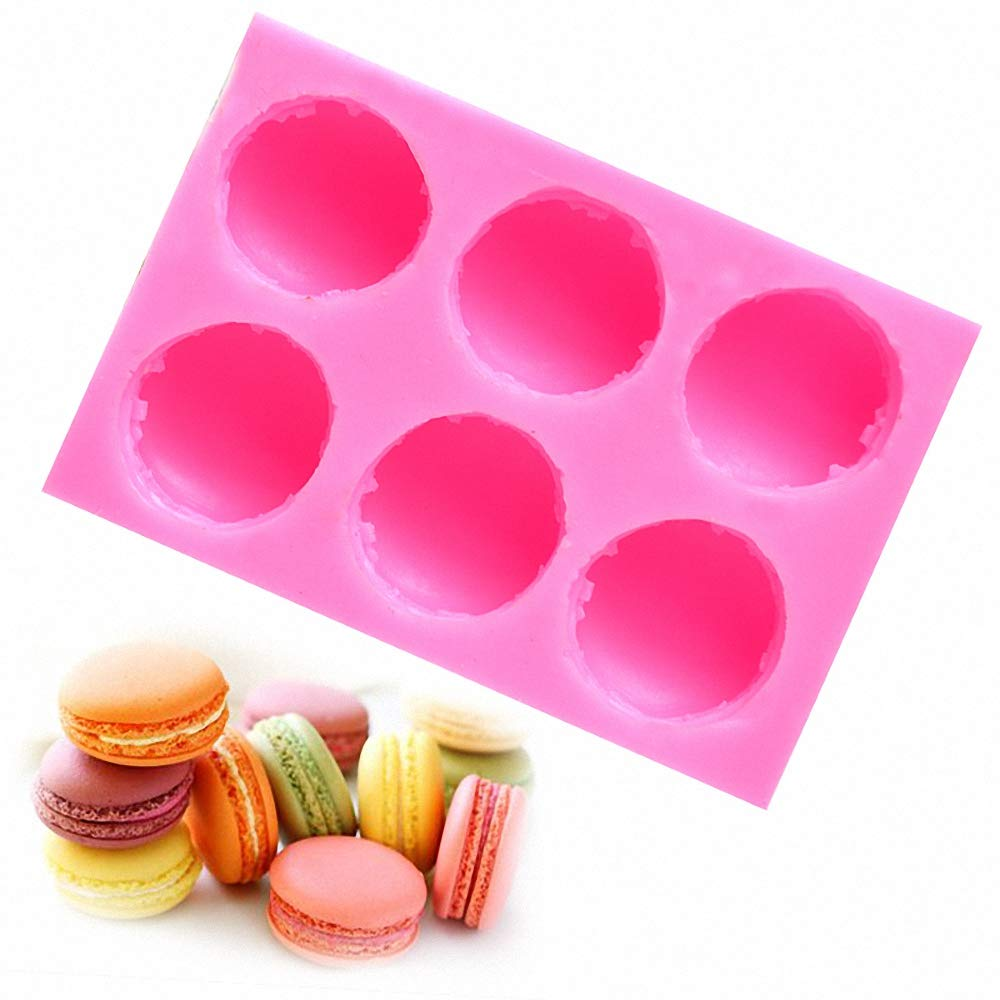Fewo 3D Macaron Silicone Soap Mold, Mini French Macaroon Bath Bomb Mould, Hamburger Mold for Baking Cookie Fondant Chocolate Candy Cake Decorating Candle Lotion Bar Wax Crayon Melt Plaster Clay