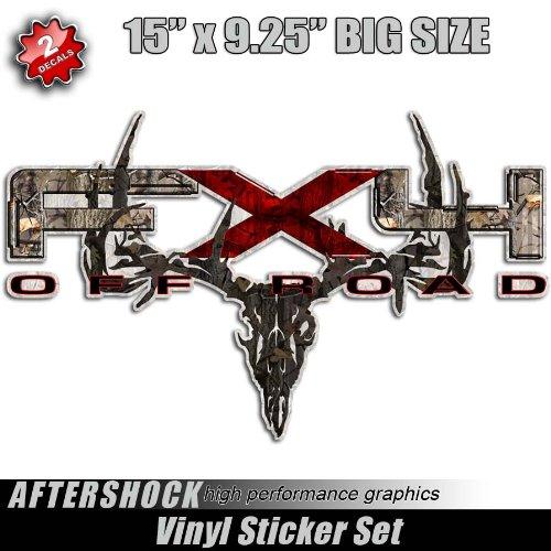 Camo Deer Skull FX4 Hunting Truck Sticker Set Archery (Decals Camo Truck)