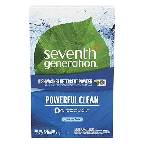 (Seventh Generation Automatic Dishwasher Powder, Free & Clear, 75-Ounces Boxes, Pack of 8, Packaging May Vary)
