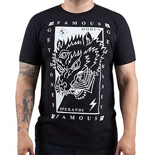 Herren T-Shirt FAMOUS STARS & STRAPS - Wolf Money - Black L