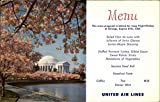 Jefferson Memorial - United Airlines Menu Washington, District Of Columbia Original Vintage Postcard
