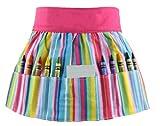 : Crayola Doodlebugz Crayon Apron Pink Stripe