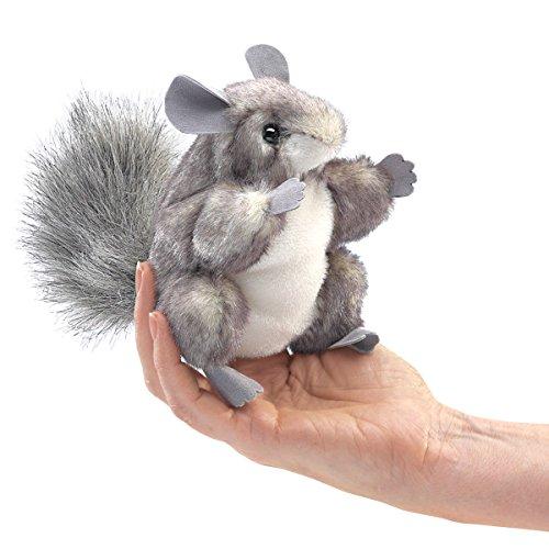 Folkmanis Mini Chinchilla Finger Puppet from Folkmanis