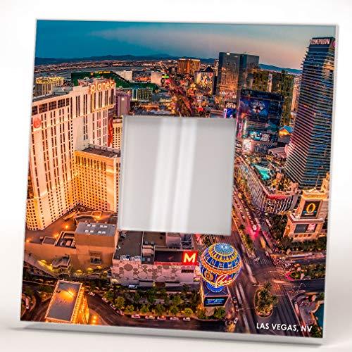 Skyline Las Vegas Strip Casino Nevada Downtown View Wall Framed Mirror Decor Art Home Design Gift