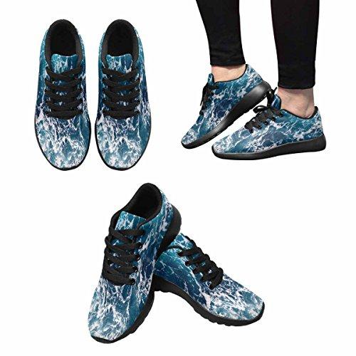Interestprint Ocean Wave Womens Jogging Running Sneaker Leggero Facile Da Camminare Scarpe Multi 1