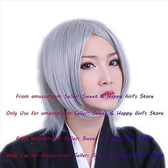 Hot Sexy moda gris gris recta Anime Cosplay Pelucas Fiesta Mascarada Niñas 30 cm corto pelucas