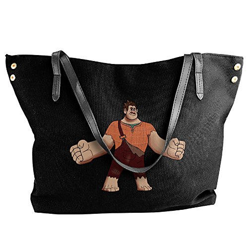 Cartoon Wreck It Ralph Canvas Shoulder Bag Large Tote Bags Women Shopping Handbags