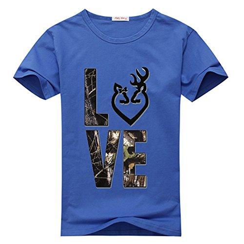 T Tshirt Women's Browning Custom DIY weileDIY Blu Shirt Classic w1gq6nS