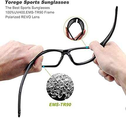 9a9a926e79 Torege Polarized Sports Sunglasses For Man Women Cycling Running Fishing  Golf TR90 Unbreakable Frame TR011 (. Loading Images... Back. Double-tap to  zoom