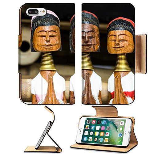 MSD Premium Apple iPhone 7 Plus Flip Pu Leather Wallet Case long neck karen wood dolls IMAGE 30620277 (Price Neck Wood)