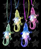 LED Light Up Flashing Party Favor Necklaces - Various Styles by Mammoth Sales (Alligator)