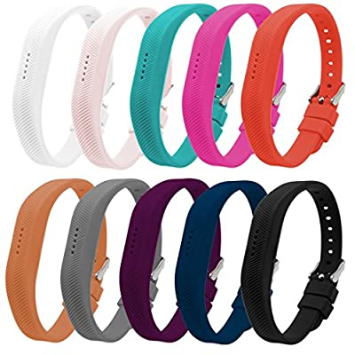 Bands for Fitbit Flex 2, Classic Silicone Fitness Replacement Accessories Wrist Band for 2016 Fit bit Flex2, 10 Colors, Buckle Design