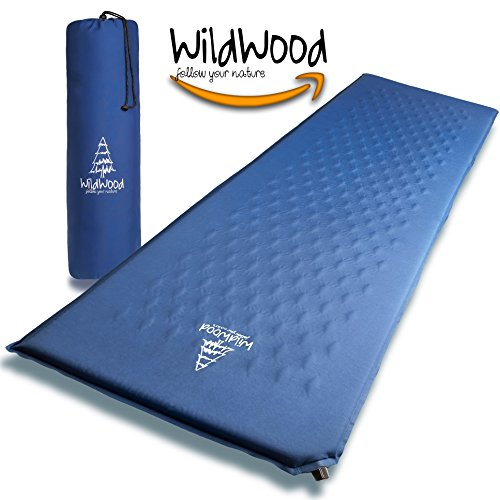 WildWood Self Inflating Lightweight Camping Sleeping Pad, Comfy Durable Soft Inflatable Sleep Mat, Easy to Use Great for Outdoors, Travel, Backpacking