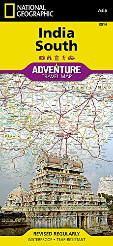 India South (National Geographic Adventure Map (3014)) (South India Map)