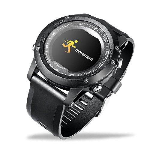 LJXAN Smart Bracelet Sports Riding Mode Monitoring Heart Rate Blood Oxygen IP68 Waterproof Fitness Activity Tracker,Black by LJXAN