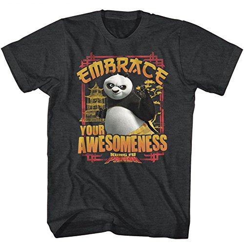 Tee Classics Génialité Homme Courtes Étreinte Panda shirt Pour À American Noir Kung Fu Manches T4qaq