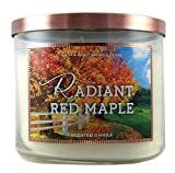 Bath & Body Works Home Radiant Red Maple Scented Candle 3 Wick 14.5 Oz Limited Edition for 2015 by Bath & Body Works