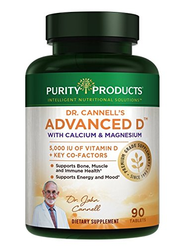 (Dr. Cannell's Advanced D with Calcium & Magnesium | Purity Products | Packed with Magnesium, Magnesium Citrate, Zinc, Boron, Taurine | Bone Density Support with Vitamin D* | 90 Tablets)