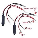 BACAI 2pcs Motorcycle Turn Signal Indicator LED Load Resistor Flash Blinker Fix Error