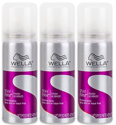 Wella Stay Firm Finishing Spray 1.51 oz Travel Size (Pack of 3)