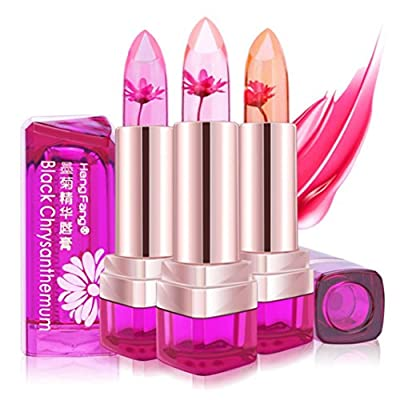 Hengfang Magic Temperature Change Color Moisturizer Full Lips Balm Labial Transparent Flower Jelly Baby Lips Lipstick Mix Color,Long Lasting,Waterproof Cosmetics Lip Gloss By Hongxin