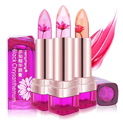 Hengfang Magic Temperature Change Color Moisturizer Full Lips Balm Labial Transparent Flower Jelly Baby Lips Lipstick Mix Color,Long Lasting,Waterproof Cosmetics Lip Gloss By Hongxin (A)