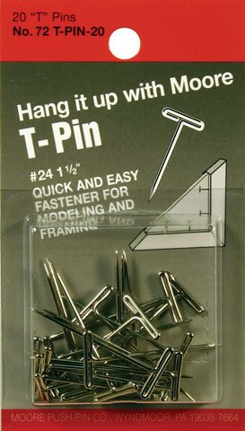 Moore T-Pins 1.5Inch Pkg/20 (Macpherson Pin)