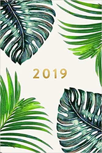 2019 weekly monthly planner palm leaves january 2019 december 2019 6 x 9 2019 12 month daily weekly monthly planner organizer agenda journal and calendar