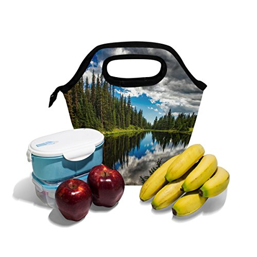 AHOMY Lunch Bag Lake Irene Colorado Reflections Insulated Lunch Box Picnic Canvas Tote with Zipper ()