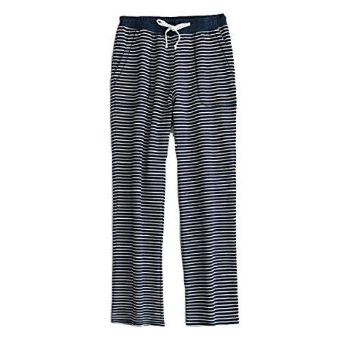 Stunner Men's Casual Striped Knit Sports Pajama Lounge Sleep Pants