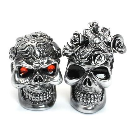 Amazon.com: Skull Wedding Day of The Dead Wedding Cake Topper ...