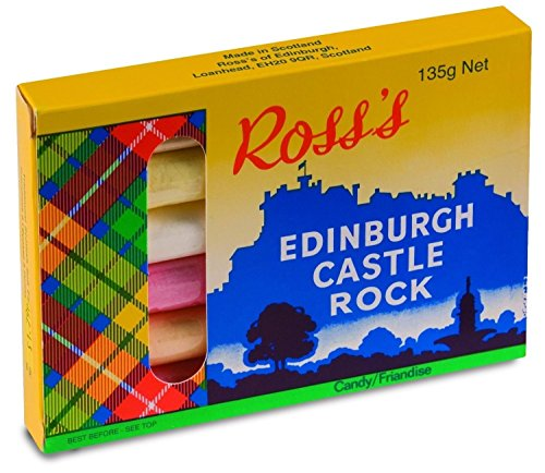 ROSS's Edinburgh Castle Rock Candy 135g / (Edinburgh Rock)