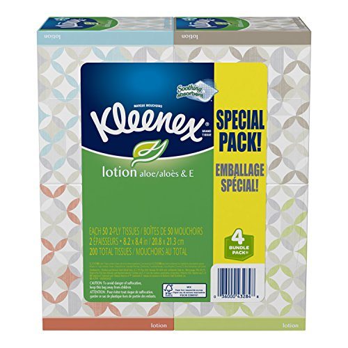 Kleenex Tissues Lotion Upright 4 Pack product image