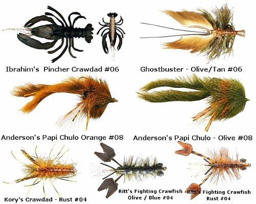 Crayfish - Crawfish - Crawdad Flies Assortment II - Tying Flies Bass