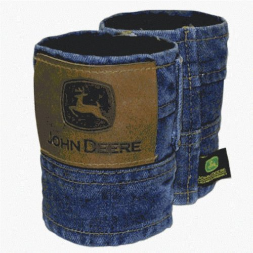 Set of 2 John Deere Denim Can Koozies (Cheers And Beers Costume)