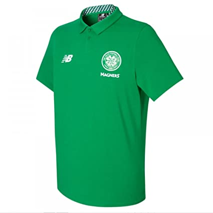 1127e5a46 Amazon.com : New Balance 2017-2018 Celtic Motion Training Polo Football  Soccer T-Shirt Jersey (Green) : Clothing