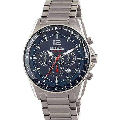 BREIL Watch Titanium Solar Powered Titanium Chronograph Blue - TW1659