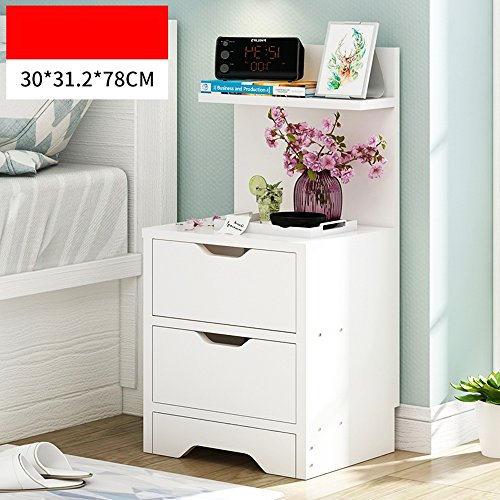 ZR- Shelf \ Floor Multi-layer Household Lockers \ Simple Multifunctional Living Room Cabinets \ Nightstands \ Children's Bookcase (Color : A -White)