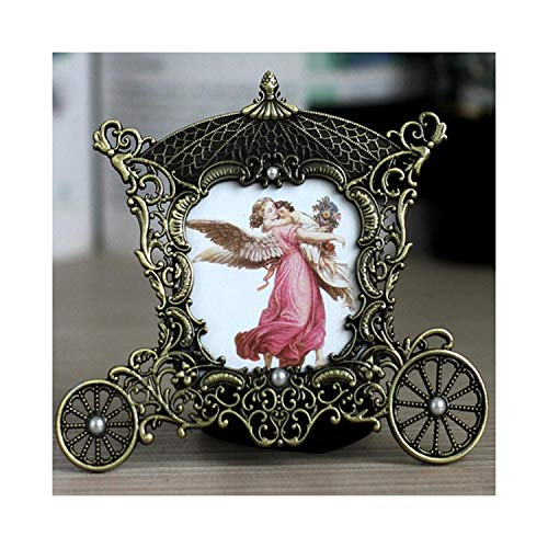 Crystal-heart-store Vintage Metal Carriage Photo Frame - 3