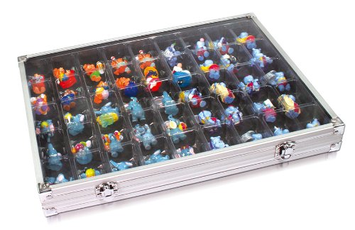 SAFE Aluminum Collecting Display Case for Legos, Squinkies, Rocks and MORE