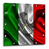 3dRose dpp_204475_3 Italian Flag Design Wall Clock, 15 by 15″ Review