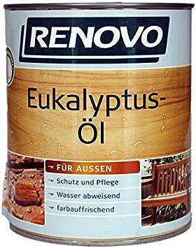 Renovo eucalipto de aceite para madera de eucalipto 750 ml Lata para exterior: Amazon.es: Bricolaje y herramientas