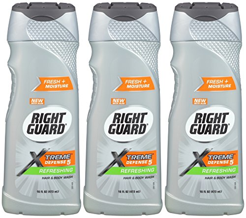 Guard Gel - Right Guard Total Defense 5 Body Wash, Refreshing, Bonus size, 16-Ounce (Pack of 3)