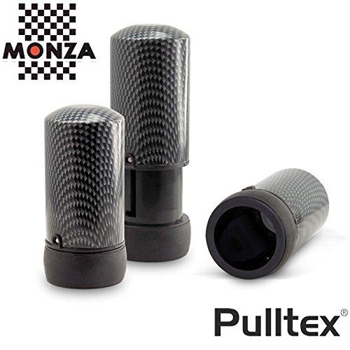 Pulltex Vacuum WineSaver MONZA modelar con acabado efecto fibra de carbono Bomba de Vac/ío y tapon de vino