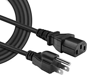 IBERLS [UL Listed] 18 AWG 3 Prong Plug Universal Computer Monitor Power Cord, Compatible with Samsung, Toshiba, LG, Sony, Panasonic, Acer, Asus, HP, Dell, Canon, BenQ (NEMA 5-15P to IEC320C13)